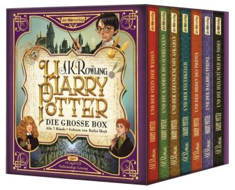 Harry Potter. Die große Box. Alle 7 Bände., 14 MP3-CDs