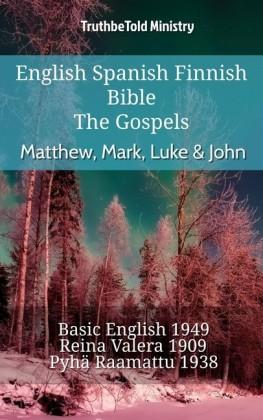 English Spanish Finnish Bible - The Gospels - Matthew, Mark, Luke & John