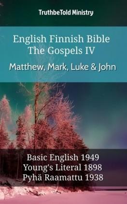 English Finnish Bible - The Gospels IV - Matthew, Mark, Luke & John