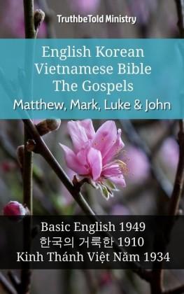 English Korean Vietnamese Bible - The Gospels - Matthew, Mark, Luke & John