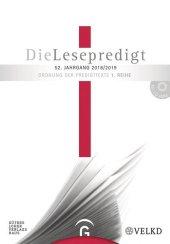 Die Lesepredigt 2018/2019, m. CD-ROM
