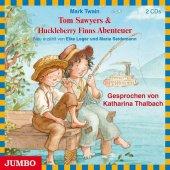 Tom Sawyers & Huckleberry Finns Abenteuer, 2 Audio-CDs Cover