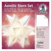 Aurelio Stern Set, Faltblätter weiß 20 cm