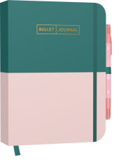"Bullet Journal ""Greenery Rose"" 05 mit original Tombow TwinTone Dual-Tip Marker 61 peach pink Cover"