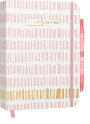 "Bullet Journal ""Stripes"" 05 mit original Tombow TwinTone Dual-Tip Marker 61 peach pink"