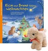 Rica und Bruno feiern Weihnachten, m. Stoffschaf