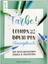 Farbe! Lettern mit dem Brush Pen - Übungsbuch Cover