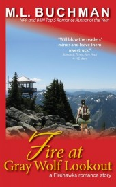 Fire at Gray Wolf Lookout