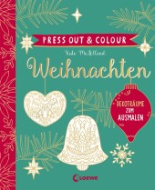 Press Out & Colour - Weihnachten