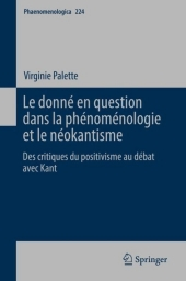 Le donné en question dans la phénoménologie et le néokantisme