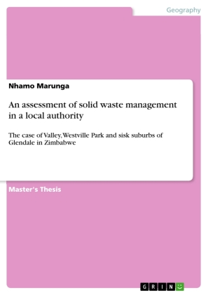 An assessment of solid waste management in a local authority