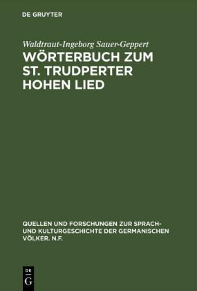 Wörterbuch zum St. Trudperter Hohen Lied