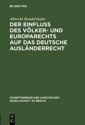 Der Einfluß des Völker- und Europarechts auf das deutsche Ausländerrecht