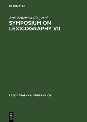 Symposium on Lexicography VII