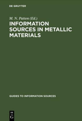 Information Sources in Metallic Materials