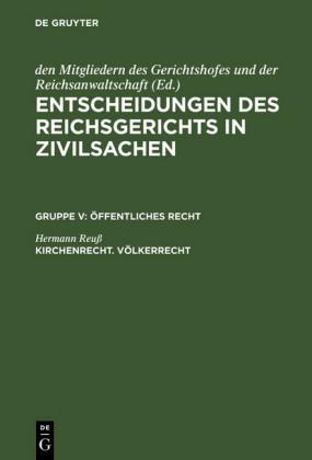 Kirchenrecht. Völkerrecht