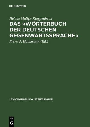 """Das """"Wörterbuch der deutschen Gegenwartssprache"""""""