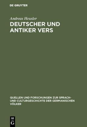 Deutscher und antiker Vers