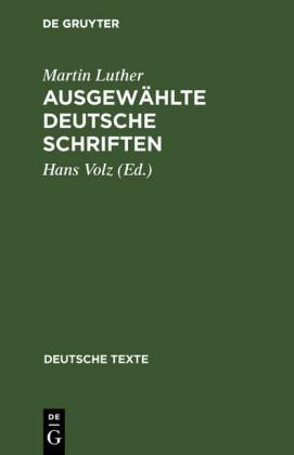 Ausgewählte deutsche Schriften