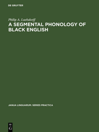 A segmental phonology of black English