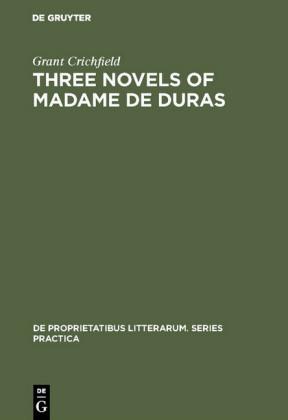 Three novels of Madame de Duras