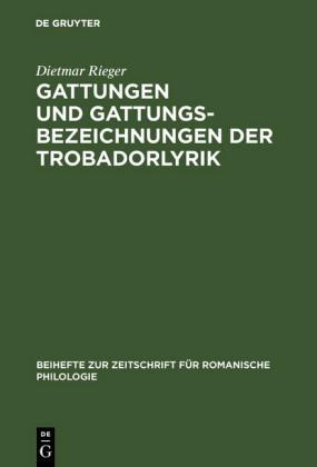 Gattungen und Gattungsbezeichnungen der Trobadorlyrik