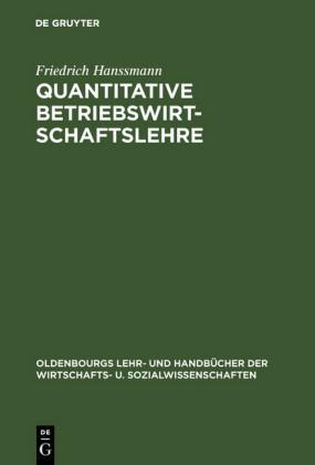Quantitative Betriebswirtschaftslehre