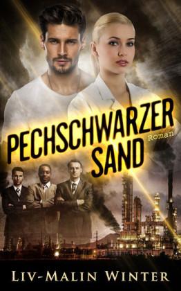 Pechschwarzer Sand