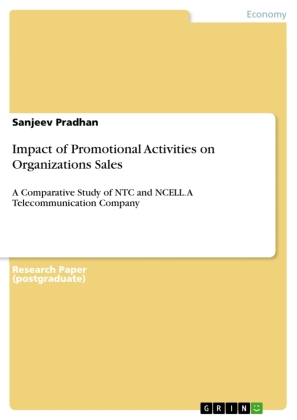 Impact of Promotional Activities on Organizations Sales