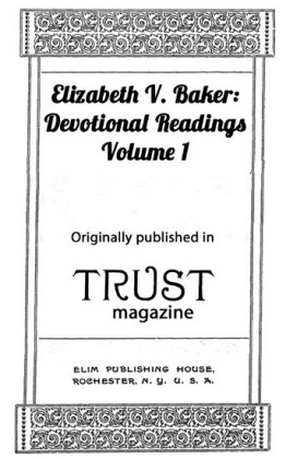 Elizabeth Baker: Devotional Readings