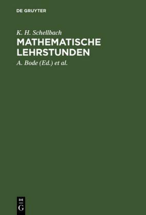 Mathematische Lehrstunden