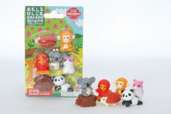 Puzzle Eraser Blister, Animals in Forest FIX6