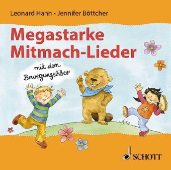 Megastarke Mitmachlieder - mit dem Bewegungsbiber, Audio-CD