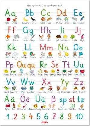 Fragenbär-Lernposter: Mein großes ABC in der Grundschrift (GS), L 70 x 100 cm