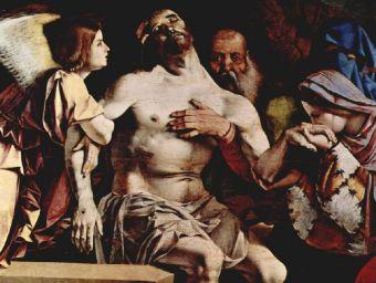 Lorenzo Lotto - Altarpolyptychon von Recanati, Bekrönung der Haupttafel: Engelpietà - 200 Teile (Puzzle)
