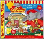 Benjamin Blümchen - Weihnachtsmarkt im Zoo, 1 Audio-CD Cover