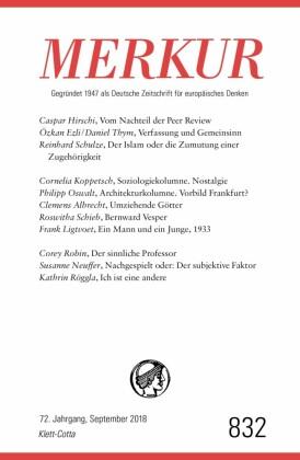 MERKUR Gegründet 1947 als Deutsche Zeitschrift für europäisches Denken - 2018-09