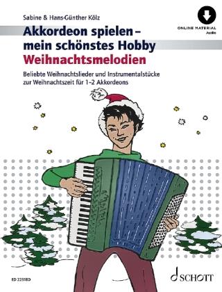 Weihnachtsmelodien, für 1-2 Akkordeons, m. Audio-CD