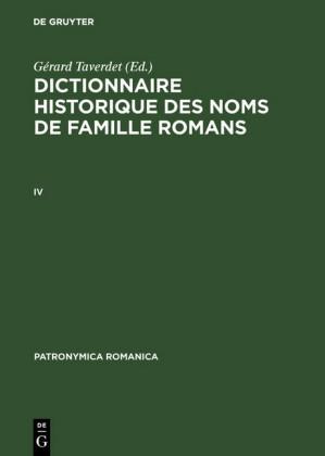 Dictionnaire historique des noms de famille romans (IV)
