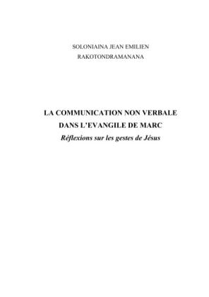 La communication non verbale dans l'Évangile de Marc