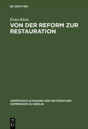 Von der Reform zur Restauration