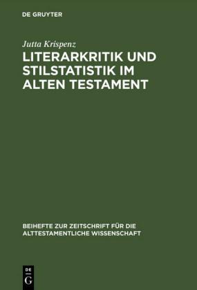 Literarkritik und Stilstatistik im Alten Testament