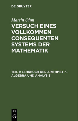 Lehrbuch der Arithmetik, Algebra und Analysis