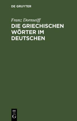Die griechischen Wörter im Deutschen