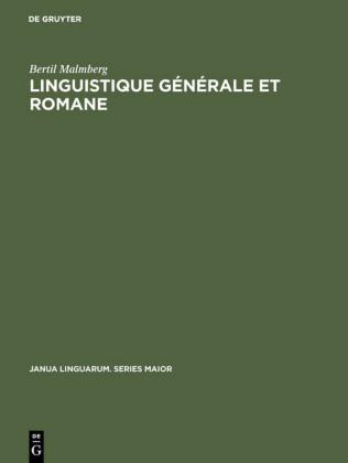 Linguistique générale et romane