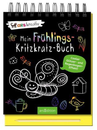 Mein Frühlings-Kritzkratz-Buch, m. Holzstift