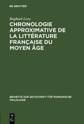 Chronologie approximative de la littérature française du moyen âge