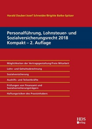 Personalführung, Lohnsteuer- und Sozialversicherungsrecht 2018 Kompakt