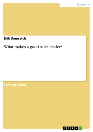 What makes a good sales leader?