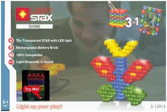 Light Stax, Bausteine, Shine (Creator 3-in-1) mit Try Me